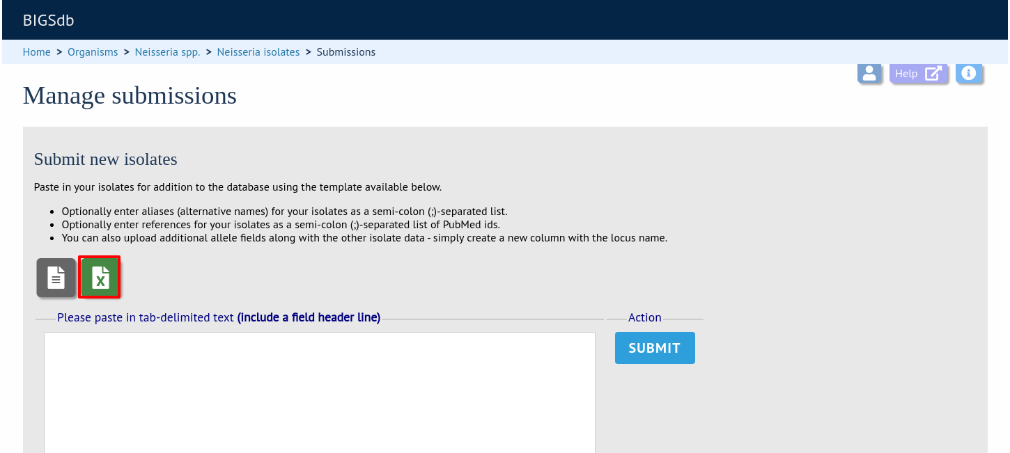 Submitting data using the submission system — BIGSdb 1 24 0